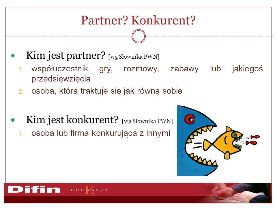 Partner Konkurent Kim jest partner [wg Słownika PWN]